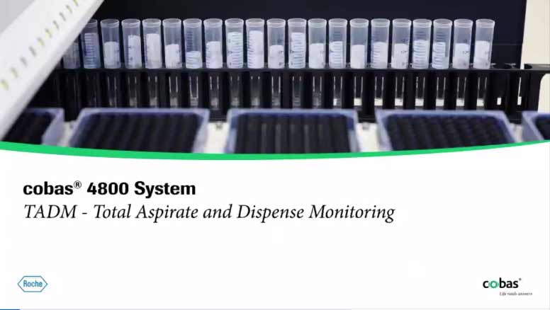 cobas® 4800 System, TADM - Total Aspirate and Dispense Monitoring